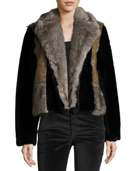 Patched Fur Jkt
