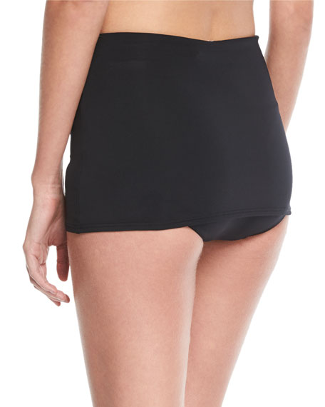 Active High-Waist Skirted Swim Bottom