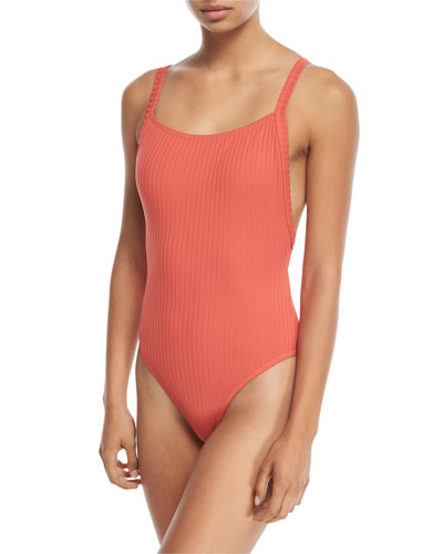 Inka Ribbed Tank Maillot One-Piece Swimsuit