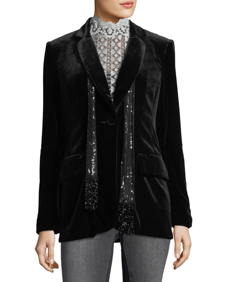 Illusionist Velvet Blazer Jacket