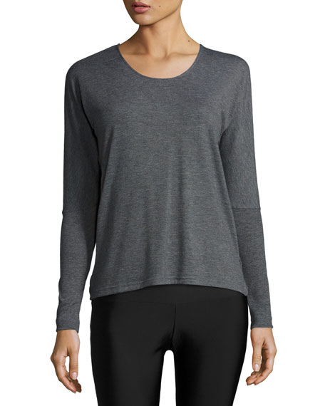 Drapey V-Back Long-Sleeve Tee