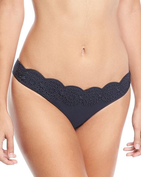 Scalloped Broderie Anglaise Bikini Swim Bottom