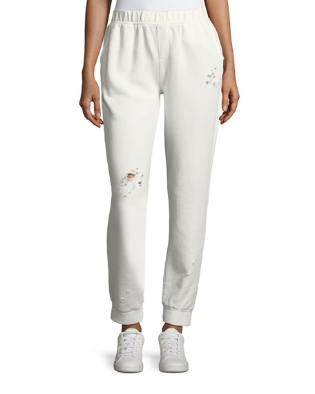 Destroyed Wash French Terry Sweatpants
