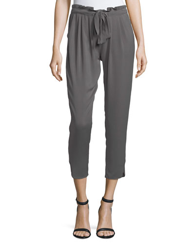 Allyn Cropped Pull-On Pants