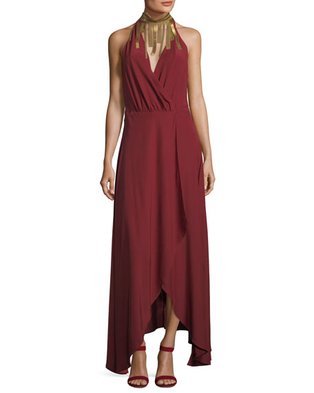 Soul Seeker Draped-Fringe Cocktail Dress
