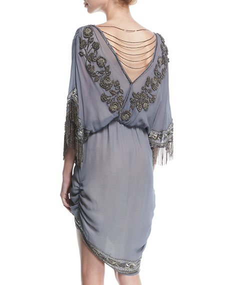 Mojave Desert Draped V-Neck Cocktail Dress