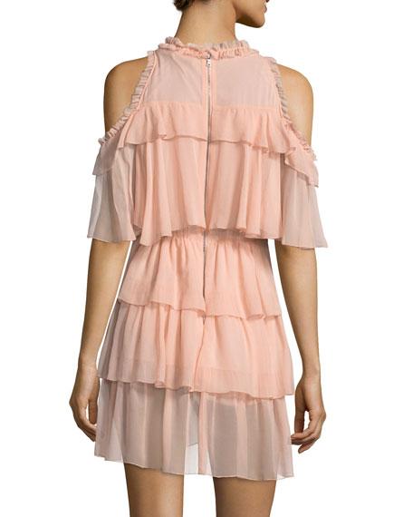Nichola Cold-Shoulder Ruffle Party Dress