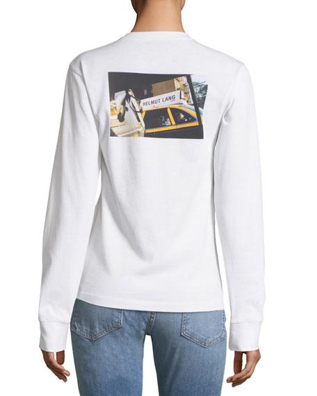 Taxi-Graphic Long-Sleeve Sweatshirt