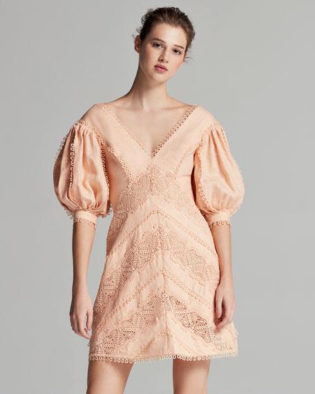 Painted Heart Chevron Dress