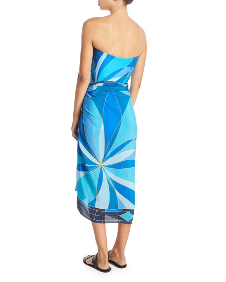 Kaleidoscope Silk Pareo Coverup, One Size