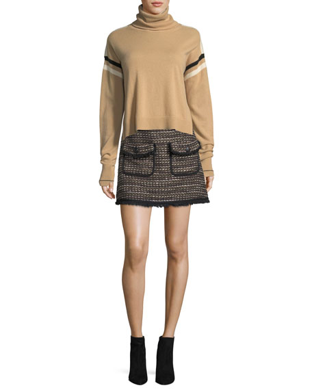 Margot Short Metallic Tweed Skirt