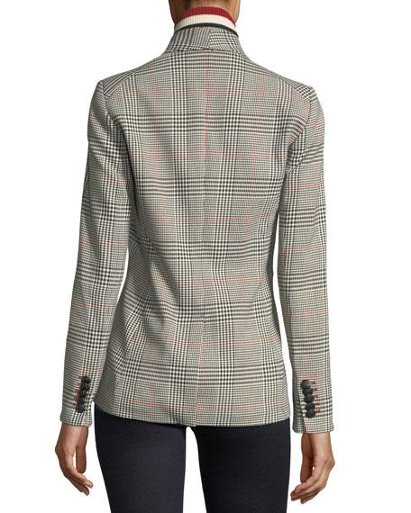 Eva Single-Button Plaid Tailored Jacket