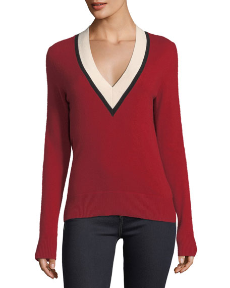 Barrett V-Neck Cashmere Sweater