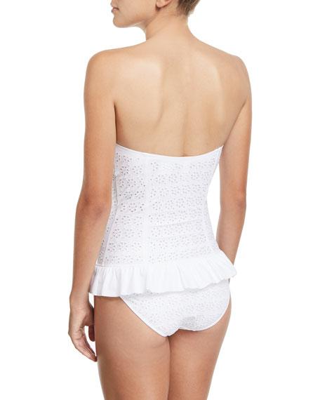 Broderie Anglaise Flounce One-Piece Swimsuit