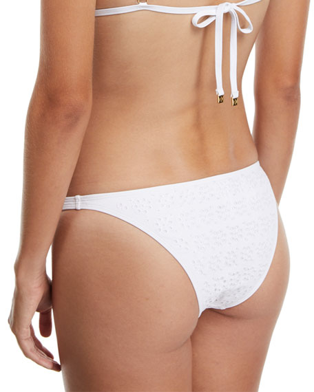 Broderie Anglaise Hipster Swim Bottoms