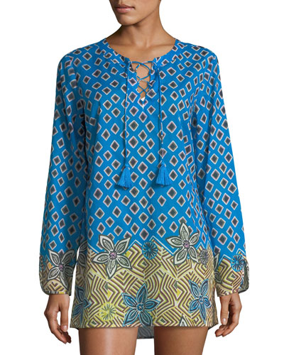 Jacinta Lace-Up Beach Tunic