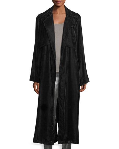 Karina Long-Sleeve Velvet Robe Duster