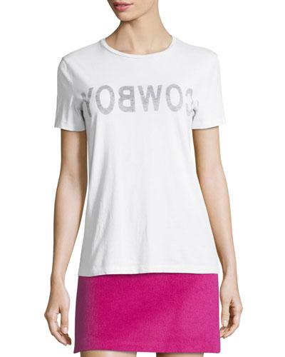 Cowboy Crewneck Short-Sleeve Slim T-Shirt