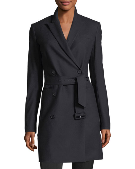 b9e5b44c0 New Pure Flannel Double-Breasted Wool Blazer Dress