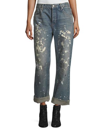 Painter Bootcut Boyfriend Jeans