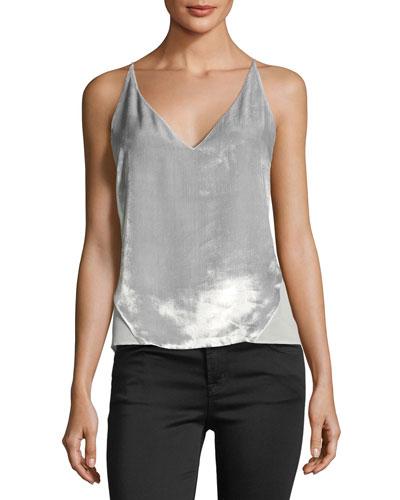 Lucy V-Neck Velvet Camisole Top