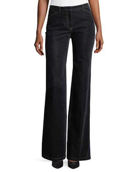 Demitria 2 Flared-Leg Velvet Denim Jeans