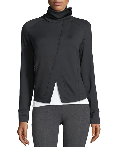 Boost Asymmetric-Zip French-Terry Athletic Jacket