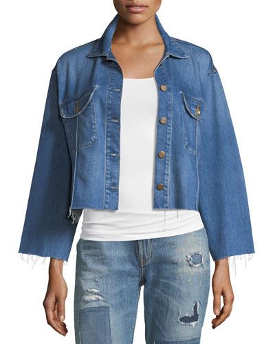 Frida Deconstructed Cropped Denim Jacket