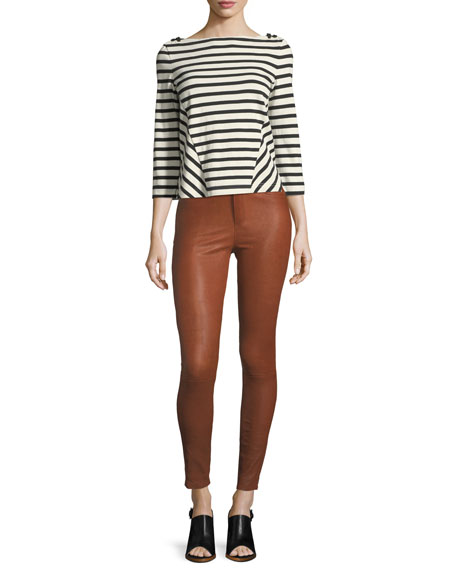 Kate Skinny-Leg Leather Pants