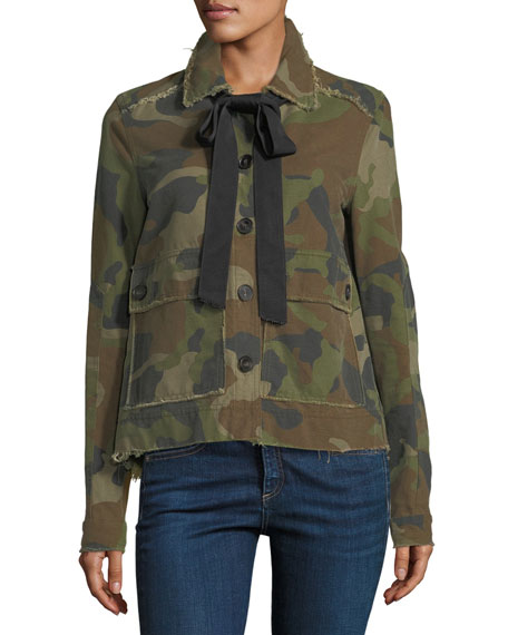 Mercer Camo Army Jacket with Necktie