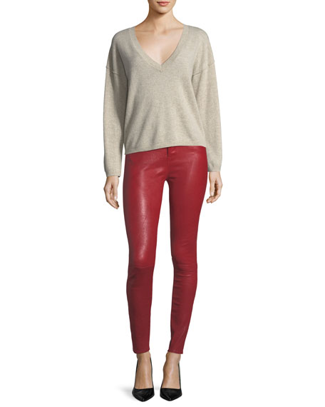 Maria High-Rise Leather Pants