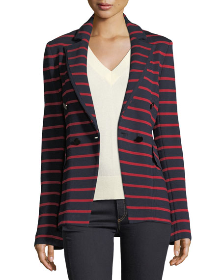 Fontana Striped Double-Breasted Jacket