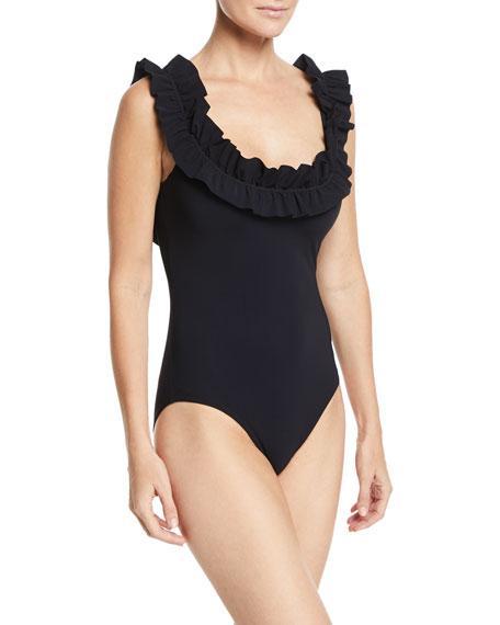 Mondria Round-Neck Underwire One-Piece Swimsuit