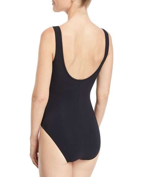 Allure V-Neck Tie-Front Underwire Swimsuit