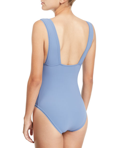 Savile V-Neck One-Piece Swimsuit