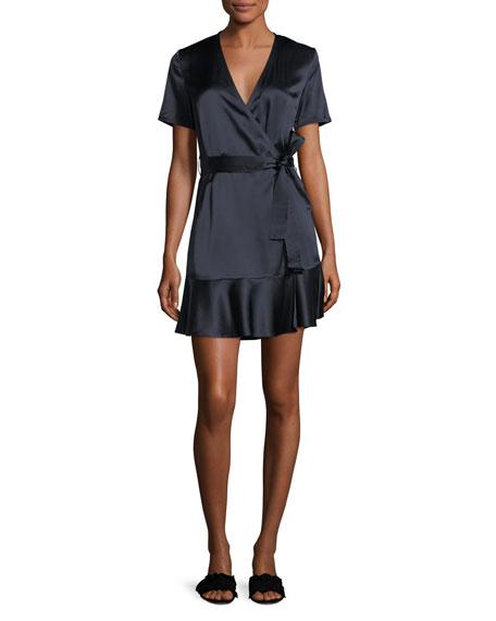 Micah Silk Satin Wrap Dress