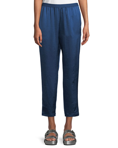 Wash & Go Elasticized Cropped Pants