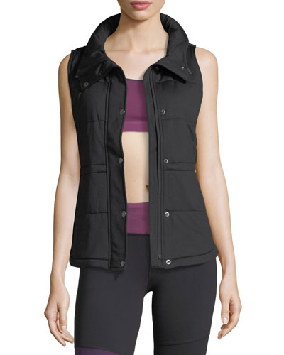 Pseudio Zip-Front Insulated Knit Vest