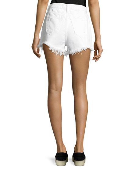 High-Rise Destroyed Cutoff Shorts