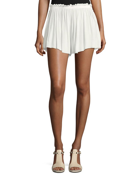 Crepe Ruffled Shorts