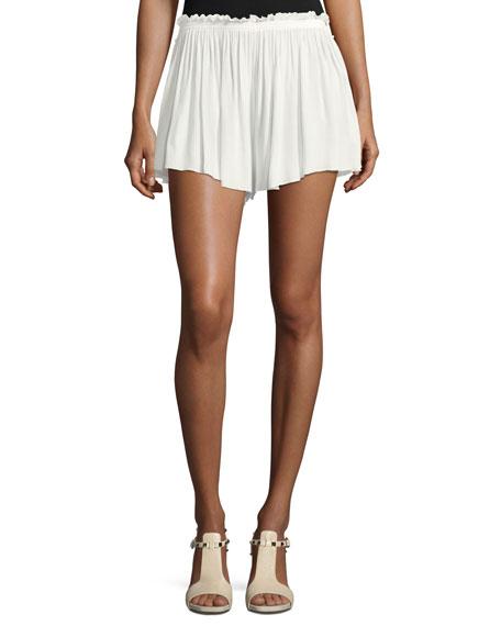 Crepe Ruffled Shorts