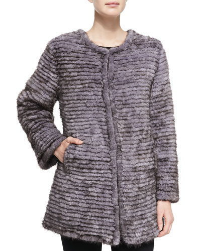 Layered Mink Fur Coat