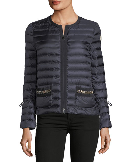 Alma Sequin Pocket Quilted Jacket