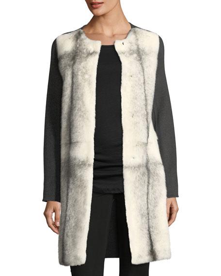Mink-Front Cashmere Coat