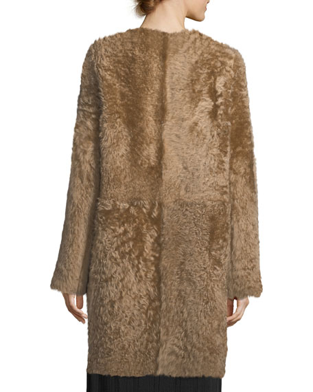 Reversible Suede & Fur Coat