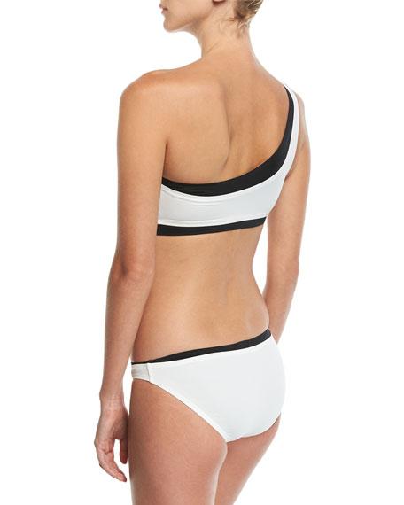 One-Shoulder Colorblocked Bikini Set