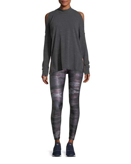 Heathered Camo Tall-Band Full-Length Tights