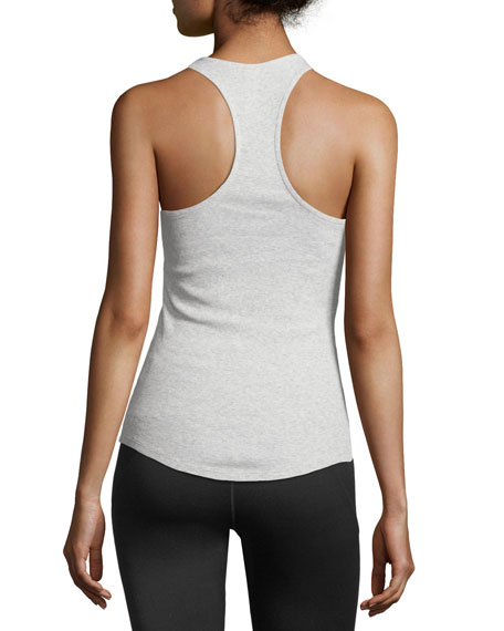 Scoop-Neck Racerback Slim Cotton Tank