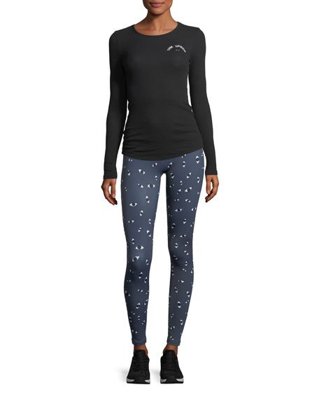 Mirada Full-Length Printed Yoga Pants