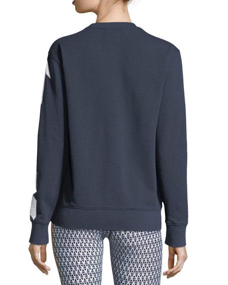 Sid Arrow-Print Crewneck Cotton Pullover Sweatshirt